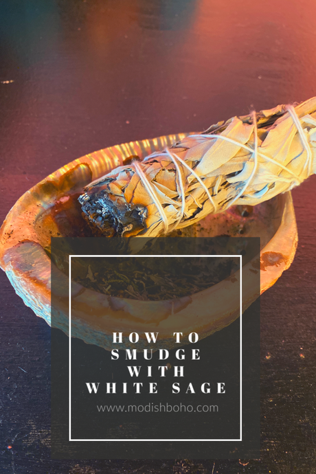 How to smudge using white sage bundle