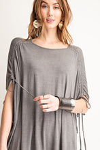 Load image into Gallery viewer, Tie Shoulder Detail Short Sleeve Tee - Modish Boho Boutique