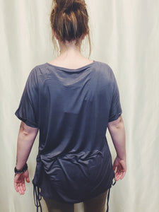 Eisley Oversized Ruched Side Pocket Tee Tunic
