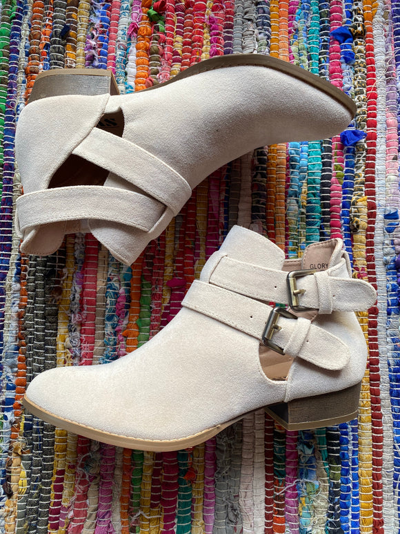Ole Glory Taupe Ankle Bootie