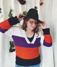 Load image into Gallery viewer, The Aurora Striped and Distressed Sweater