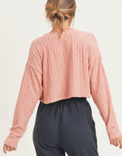 Load image into Gallery viewer, Cardi Coral Buttonup Cardigan Style Crop Top