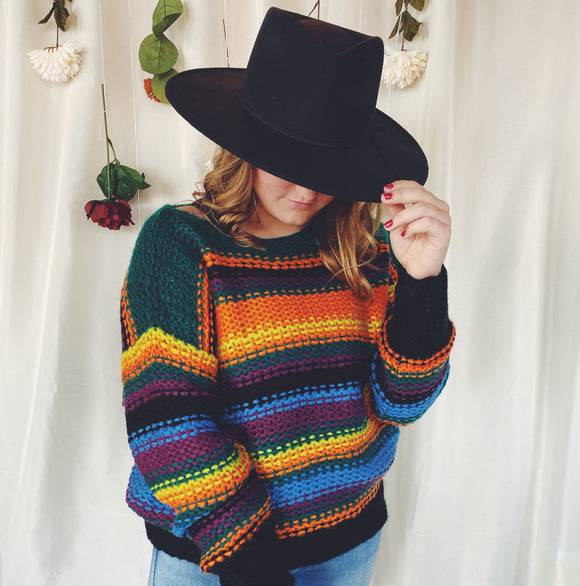 Desert Sunrise Striped Sweater