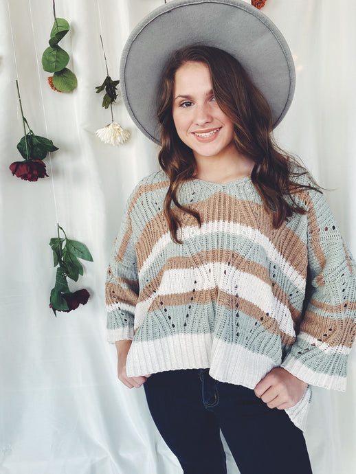 The Willow Eyelet Sweater