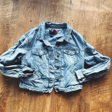 Load image into Gallery viewer, Paint Splatter Vintage Denim Jacket - Modish Boho Boutique