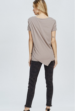 Load image into Gallery viewer, Asymmetrical Hem Oversized Tshirt