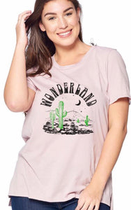 Plus size wanderlust hippie graphic tee
