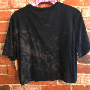 TJ black glitter hippie crop top