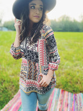 Load image into Gallery viewer, Multi Print Boho Printed Long Sleeve Blouse