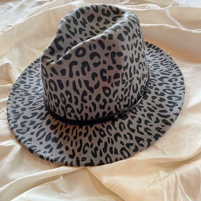 Grey Leopard Hat