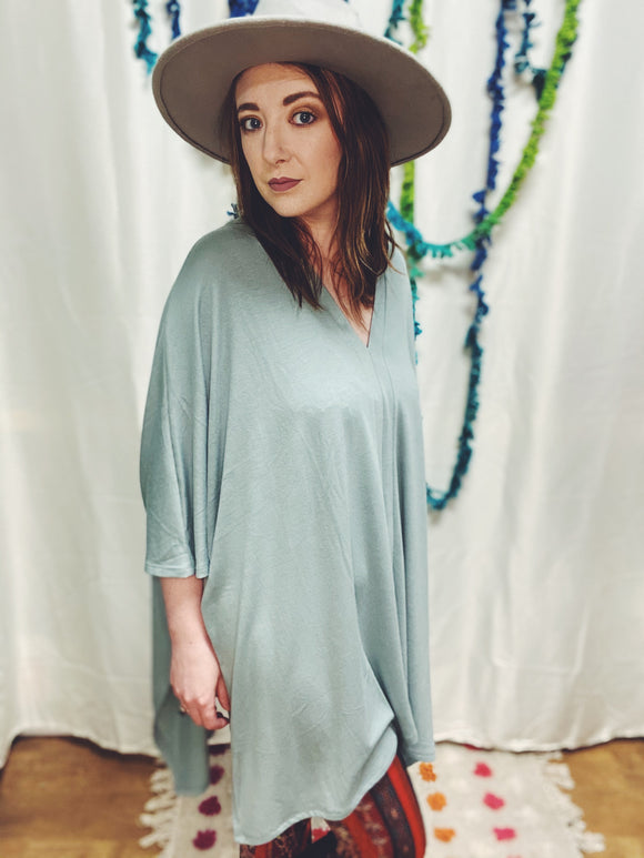 Memphis Oversized Sage Green Tunic