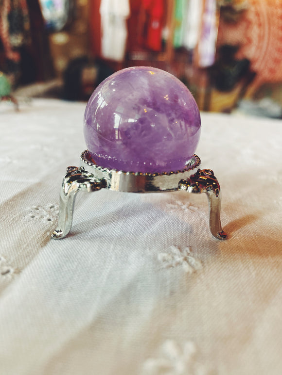 Small Amethyst Sphere with Stand