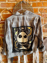 Load image into Gallery viewer, Jack Skeleton Tshirt Cropped Flannel