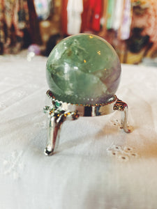 Small Fluorite Sphere with Stand