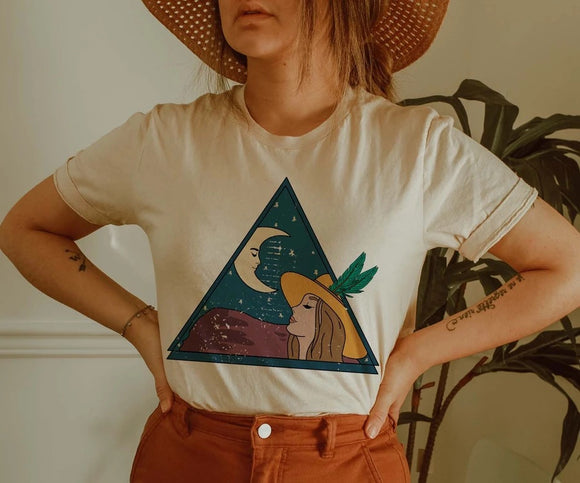 Lady and the Moon Western Graphic Tee