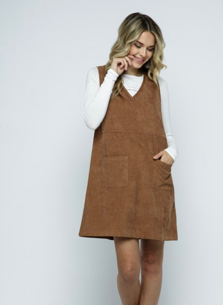 Roxy Corduroy Jumper Dress