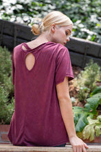 Load image into Gallery viewer, Keyhole Back Detail Soft Knit Tee - Modish Boho Boutique