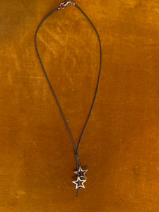 Double star and cord necklace