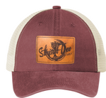 ST-0126 Genuine Leather Patch Hat