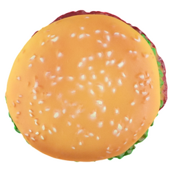 Squeaky Dog Chew Toy - Hamburger