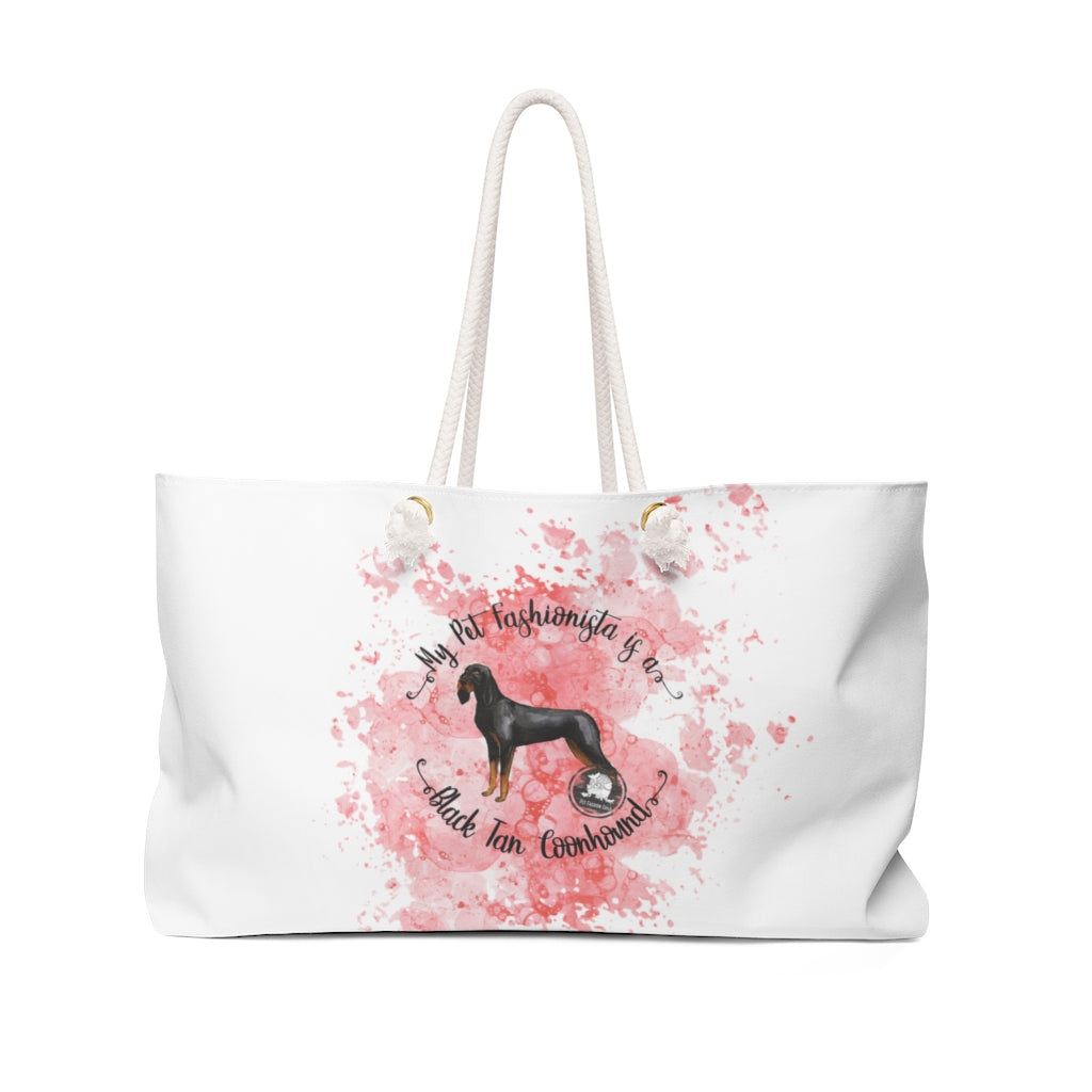 Black and Tan Coonhound Pet Fashionista Weekender Bag