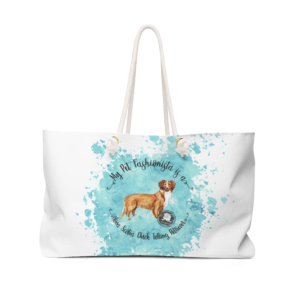 Nova Scotia Duck Tolling Retriever Pet Fashionista Weekender Bag