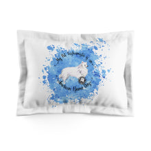 Load image into Gallery viewer, American Eskimo Dog Pet Fashionista Pillow Sham