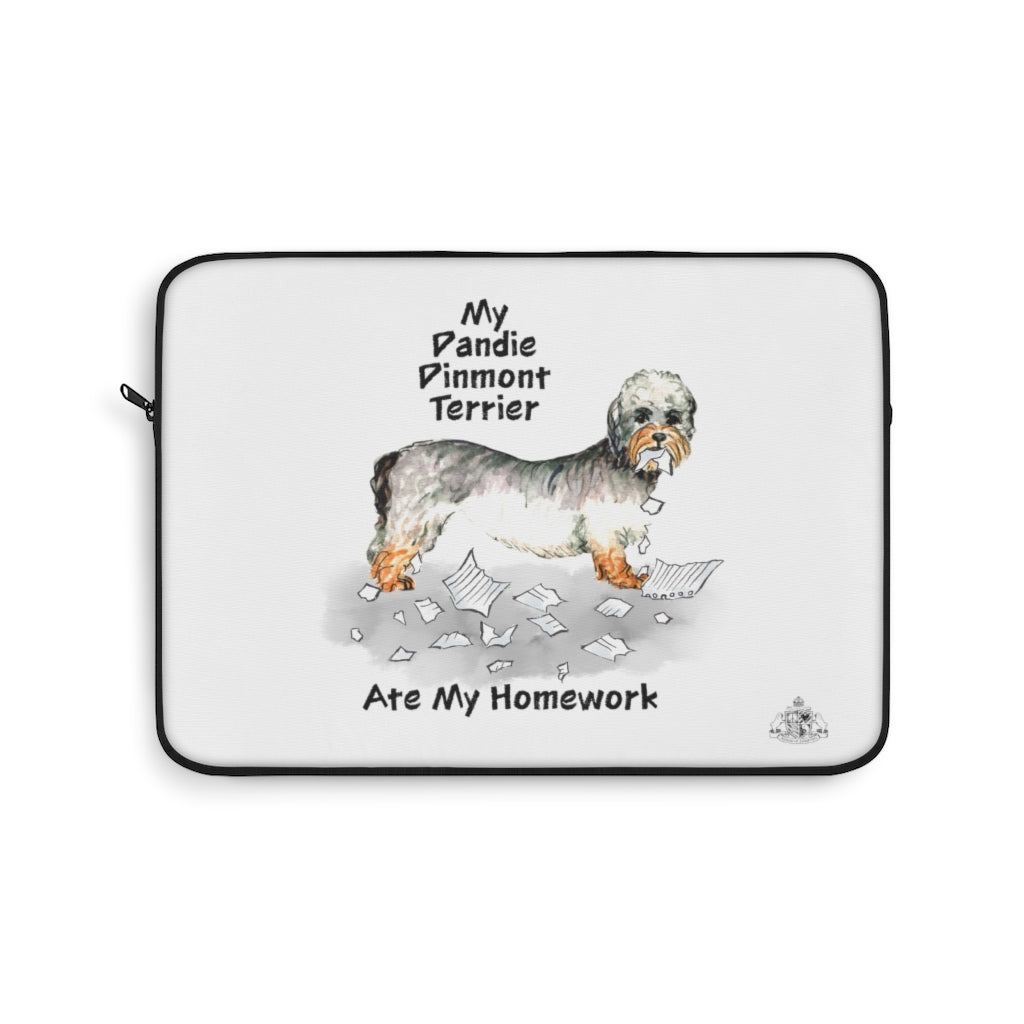 My Dandie Dinmont Terrier Ate My Homework Laptop Sleeve
