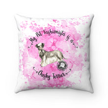 Load image into Gallery viewer, Cesky Terrier Pet Fashionista Square Pillow