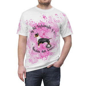 Miniature Bull Terrier Pet Fashionista All Over Print Shirt