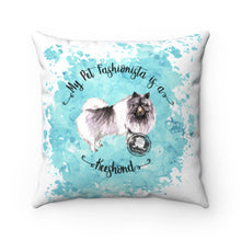 Load image into Gallery viewer, Keeshond Pet Fashionista Square Pillow