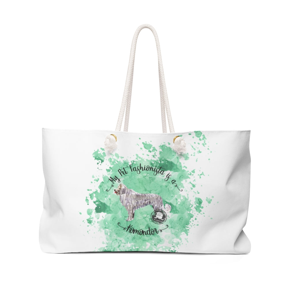 Komondor Pet Fashionista Weekender Bag