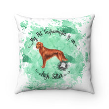Load image into Gallery viewer, Irish Setter Pet Fashionista Square Pillow