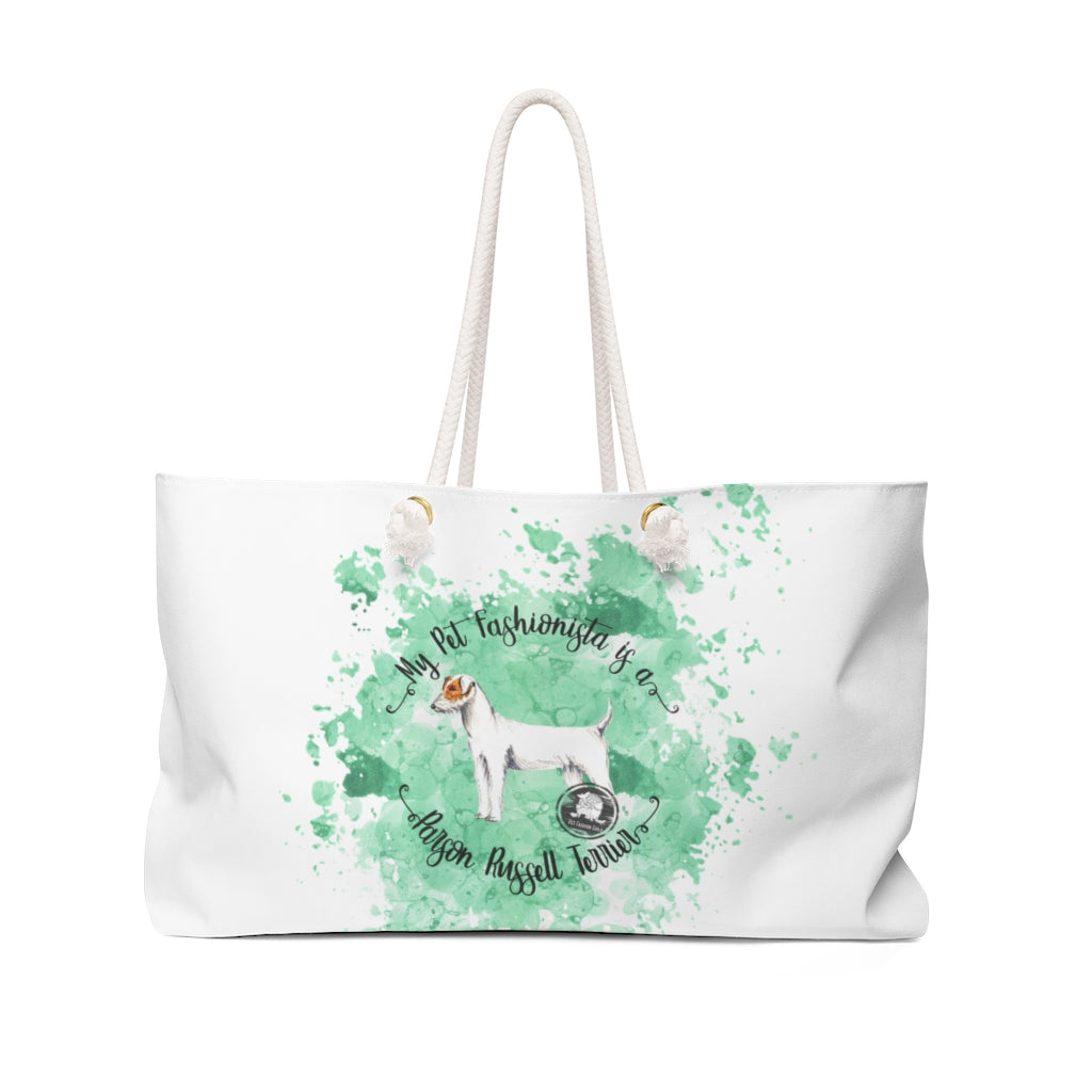 Parson Russell Terrier Pet Fashionista Weekender Bag