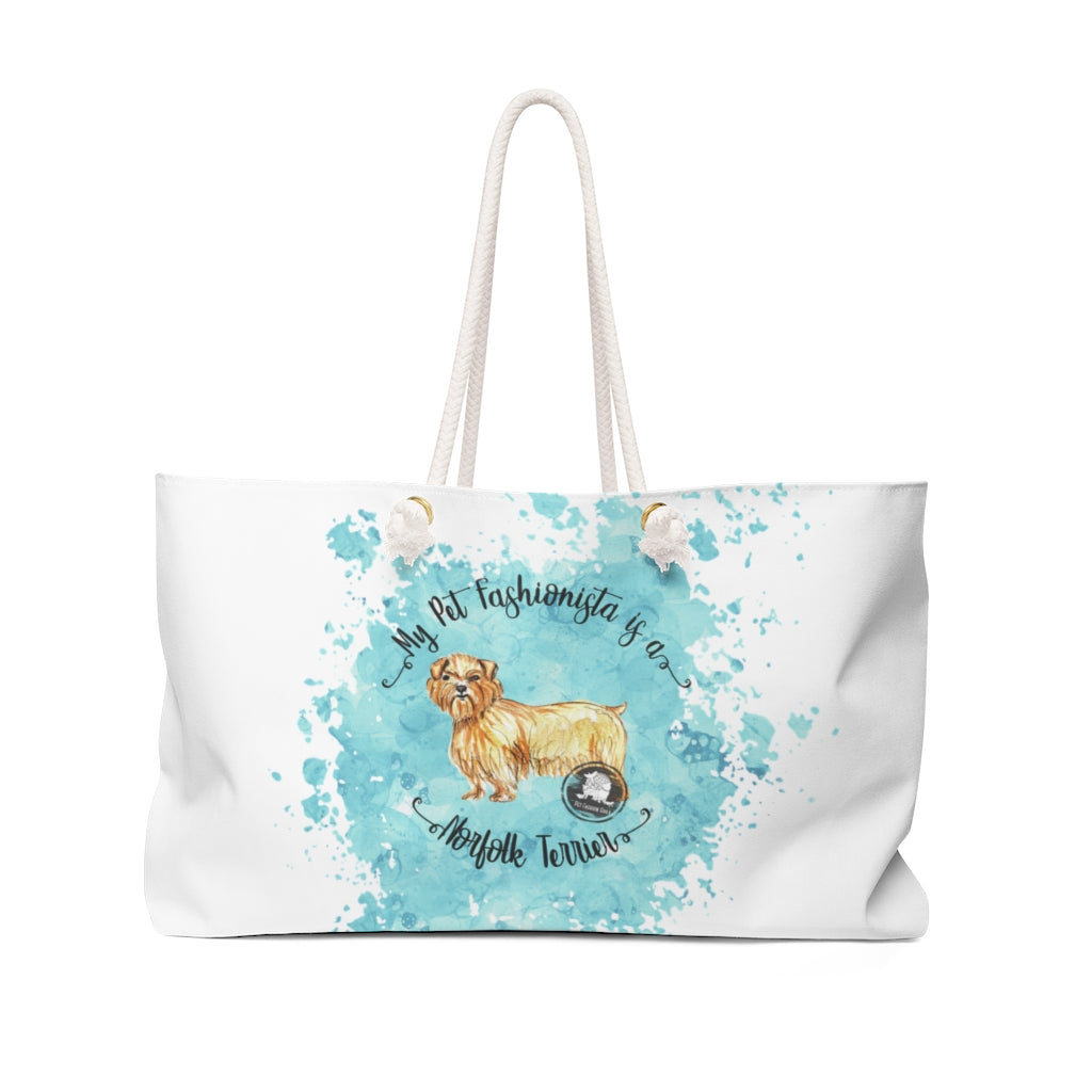 Norfolk Terrier Pet Fashionista Weekender Bag