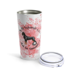 Black and Tan Coonhound Pet Fashionista Tumbler