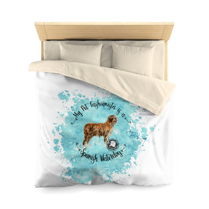 Spanish Waterdog Pet Fashionista Duvet Cover