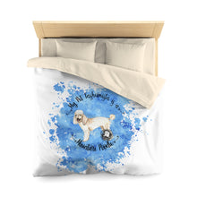 Load image into Gallery viewer, Miniature Poodle Pet Fashionista Duvet Cover