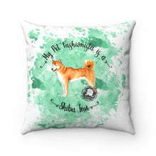 Load image into Gallery viewer, Shiba Inu Pet Fashionista Square Pillow