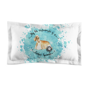 Cocker Spaniel Pet Fashionista Pillow Sham