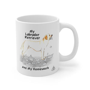 My Labrador Retriever Ate My Homework Mug