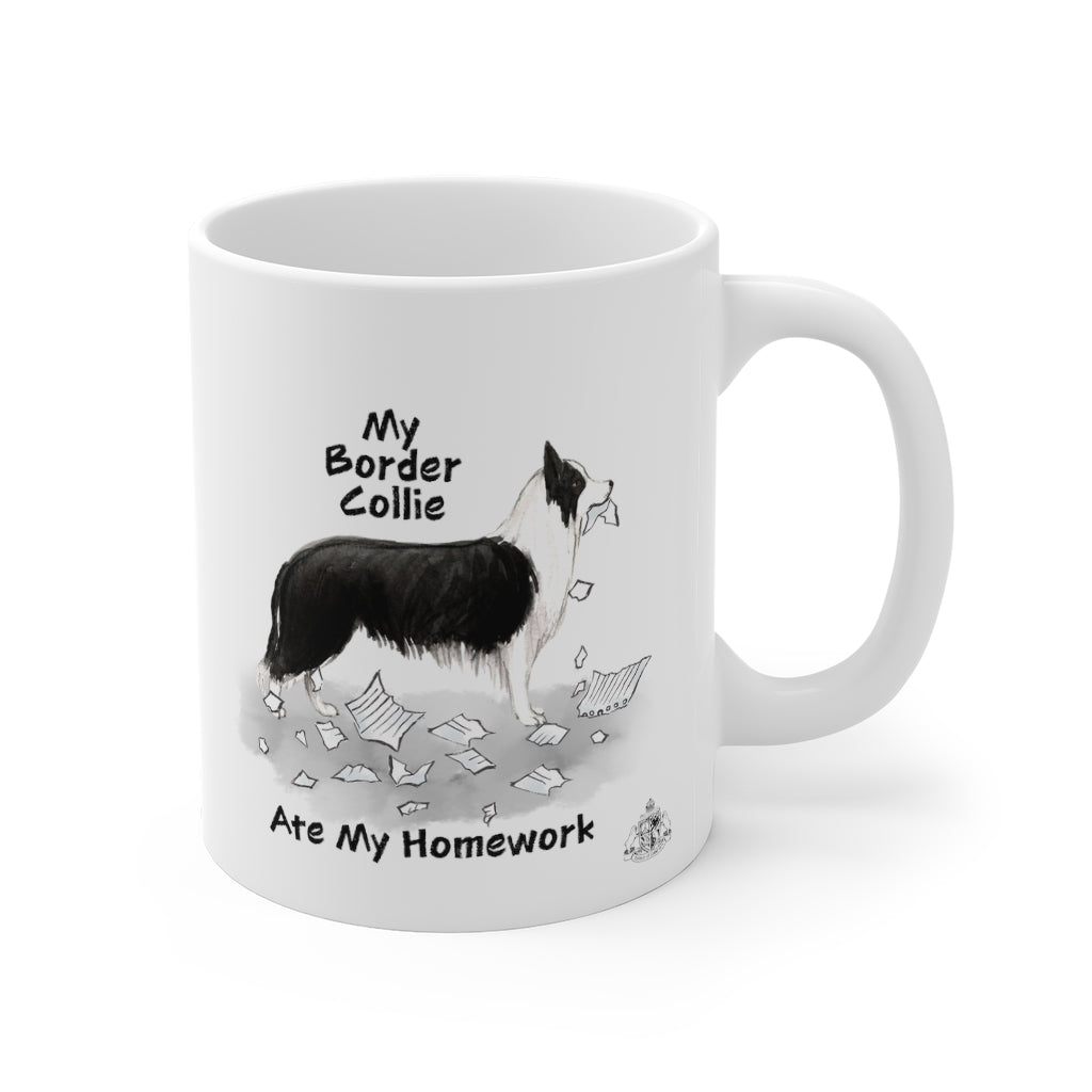 My Border Collie Ate My Homework Mug