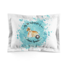 Load image into Gallery viewer, Cocker Spaniel Pet Fashionista Pillow Sham