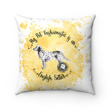 Load image into Gallery viewer, English Setter Pet Fashionista Square Pillow