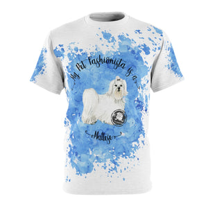 Maltese Pet Fashionista All Over Print Shirt