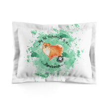 Load image into Gallery viewer, Pomeranian Pet Fashionista Pillow Sham