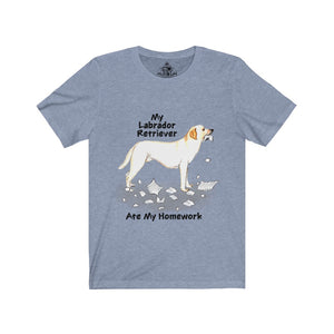 My Labrador Retriever Ate My Homework Unisex Jersey Short Sleeve Tee