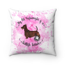 Load image into Gallery viewer, Scottish Terrier Pet Fashionista Square Pillow