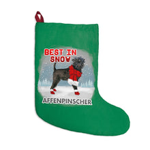 Load image into Gallery viewer, Affenpinscher Best In Snow Christmas Stockings