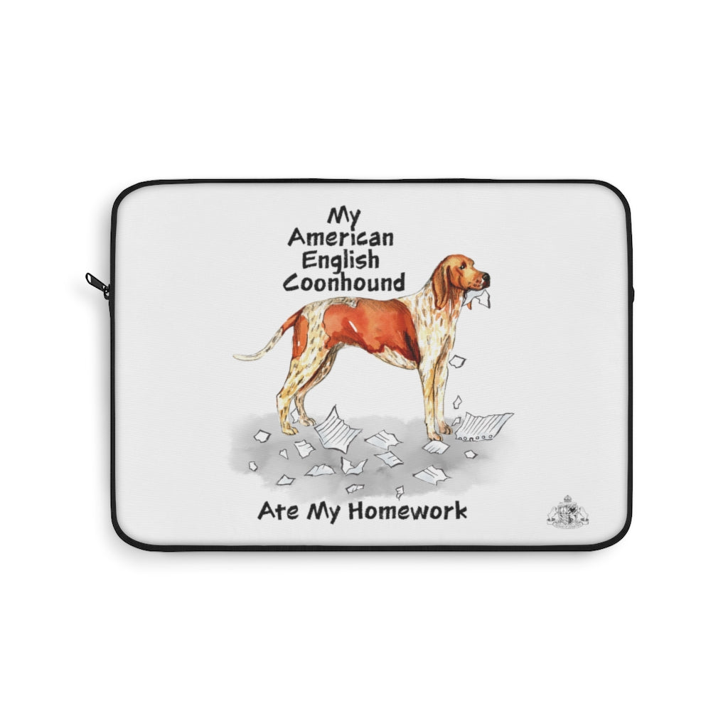 My American English Coonhound Ate My Homework Laptop Sleeve
